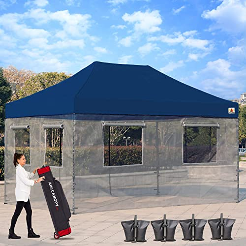 ABCCANOPY Food Vendor Tent 10×15 Food Vendor Booths Food Service Canopy STD Navy Blue