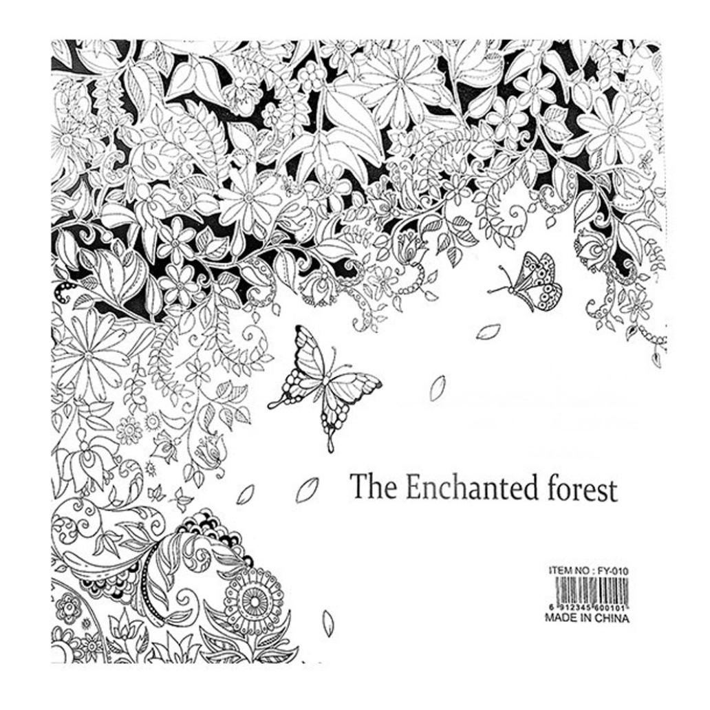 Fun Adult Coloring Book Designs Stress Relief Coloring Book Lost Ocean/Secret Garden (The enchanted forest) by Xiaosan (Image #1)