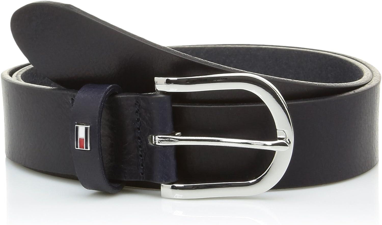 Tommy Hilfiger Damen Gürtel New Danny Belt Leder 85cm Blau WW0WW11590-421
