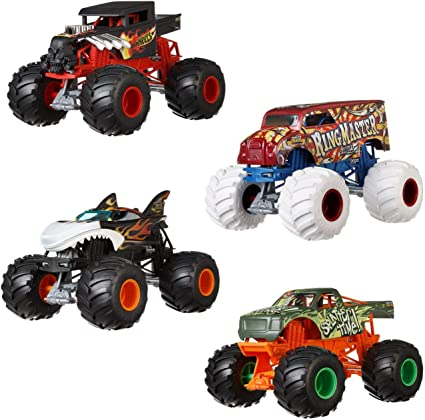 Amazon Com Hot Wheels Monster Trucks 1 24 Dodge Charger R T Vehicle Toys Games