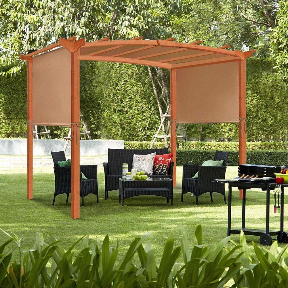 SmallPocket Canopy De Repuesto para Pérgola Patio Soft Top BBQ Gazebo Shade Sails Impermeable, Protector Solar Y Protección UV Summer Outdoor Outdoor Furniture Toldo Universal: Amazon.es: Hogar