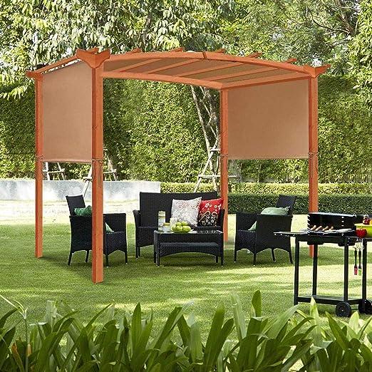 SmallPocket Canopy De Repuesto para Pérgola Patio Soft Top BBQ Gazebo Shade Sails Impermeable, Protector Solar Y Protección UV Summer Outdoor Outdoor Furniture Toldo Universal: Amazon.es: Hogar