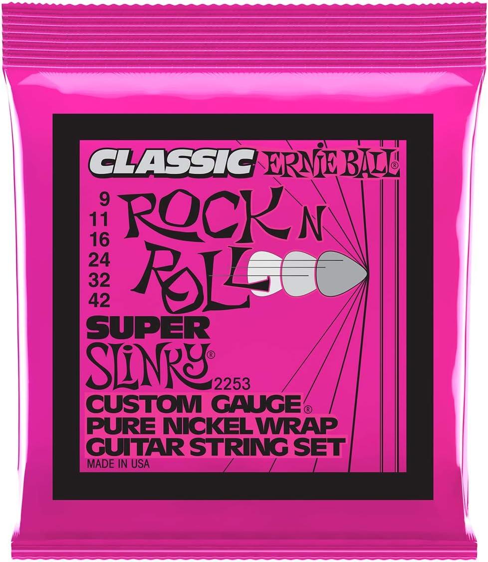 Ernie Ball Super Slinky Classic Rock n Roll Cuerdas para guitarra ...