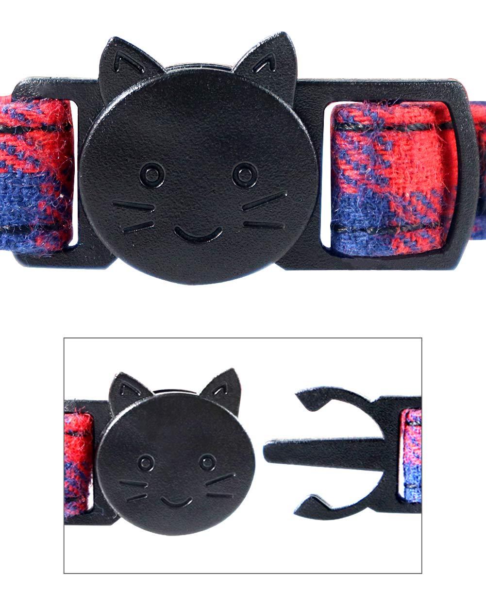 TagME Collar de Gato Personalizado con Pajarita & Campana, Placa ...