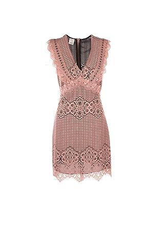 save off 8cd63 fed41 Amazon.com: Pinko Abito Donna 42 Rosa/Nero Acquerello ...