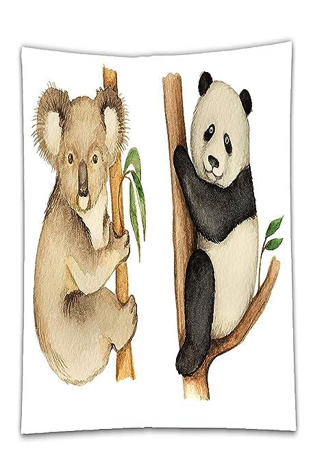 Interestlee - Mantel de satén para decoración de animales, Koala y ...