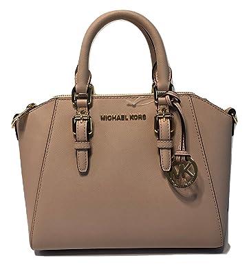 ee6431cfe1f3d1 MICHAEL Michael Kors Ciara MD Messenger Handbag (Ballet): Handbags: Amazon .com