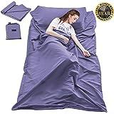 Sleeping Bag Liner Travel Camping Sheet Lightweight Hotel Sheet Compact Sleep Bag Sack Lightweight Breathable Liners Warm Roo