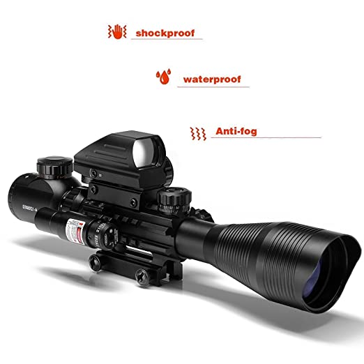 AR15 C4-16x50EG Tactical Rifle Scope Combo