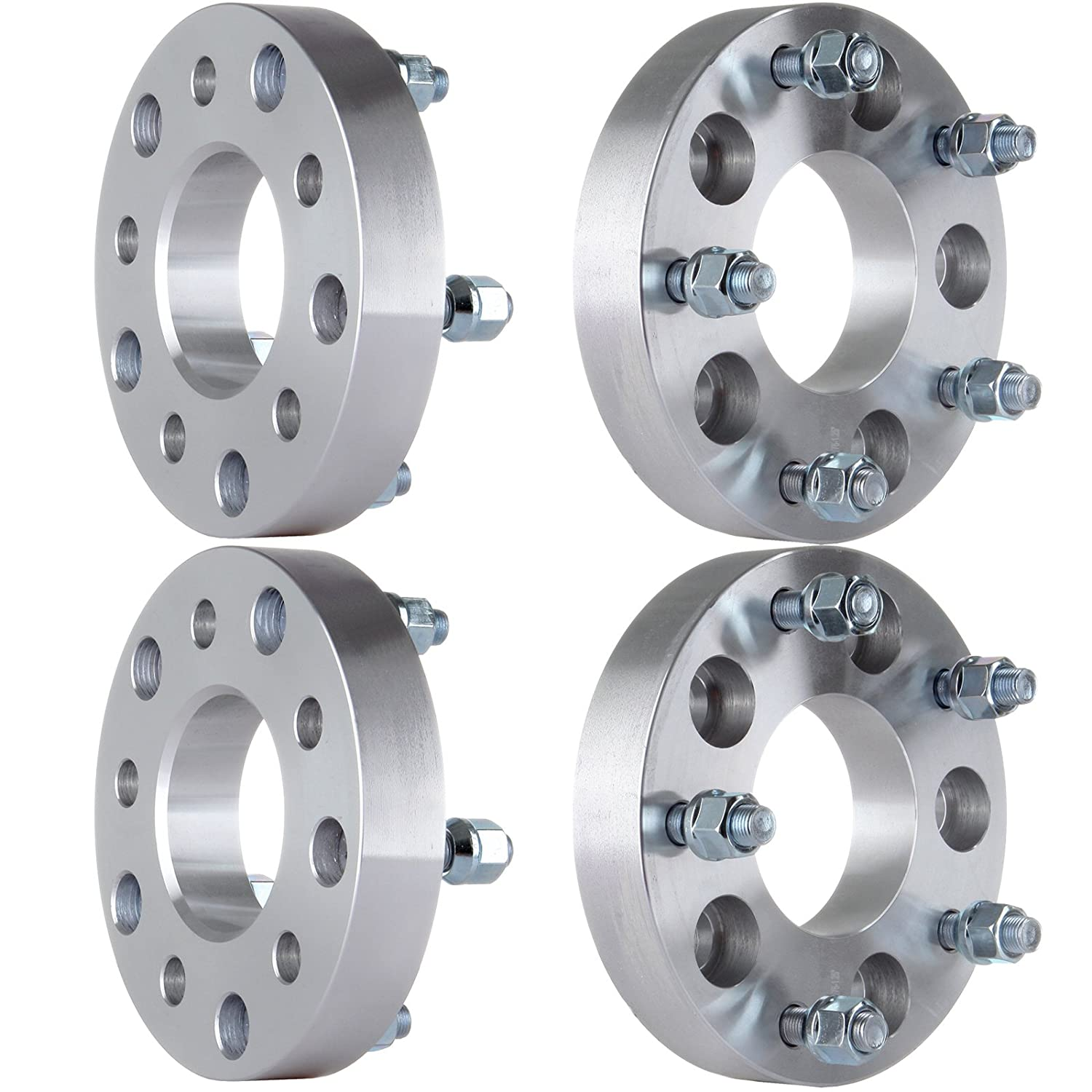 ECCPP 4PCS 1.25' 5x5 to 5x5.5 | 5x127 to 5x139.7 Wheel Spacers Fits GMC Buick Chevrolet Tahoe with 1/2' Studs
