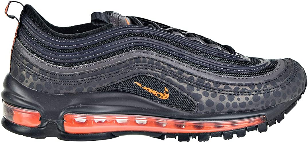 Nike Air Max 97 Big Kids' Shoes Off NoirOrange TranceThunder Grey bv1243 001