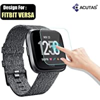 ACUTAS Round Edge Tempered Glass Screen Protector for Fitbit Versa(Transparent)