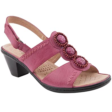 9Amazon Heeled Ladies Size co uk Sandals Caravelle Lellie Pink 0OP8nwkX
