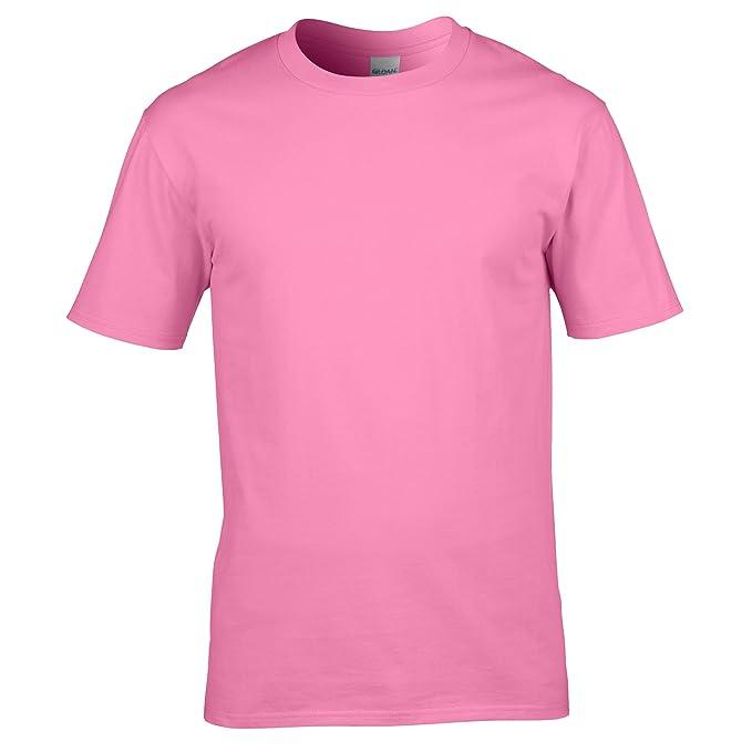 GILDAN - Camiseta - para hombre rosa azalea small
