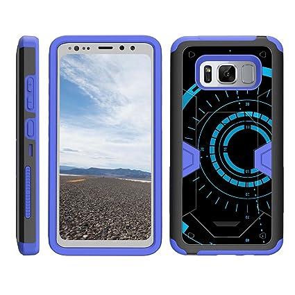 detailed look 11fb1 bae16 TurtleArmor | Samsung Galaxy S8 Active Case | G892 [Clip Caliber] Advanced  Durable Armor Impact Silicone Belt Clip Holster Kickstand Blue Case - Blue  ...