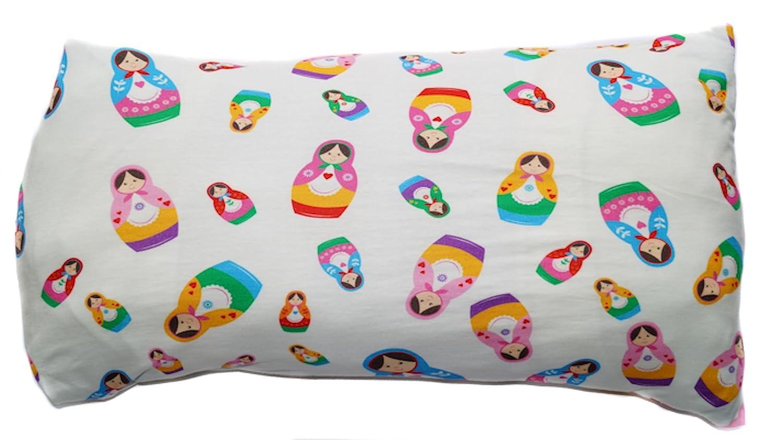 Baby Kinder Kopfkissenbezug Bio-Baumwolle GOTS 11 Farben Kissenbezug Kissenh/ülle Jersey 40x60cm beige Gewirkt