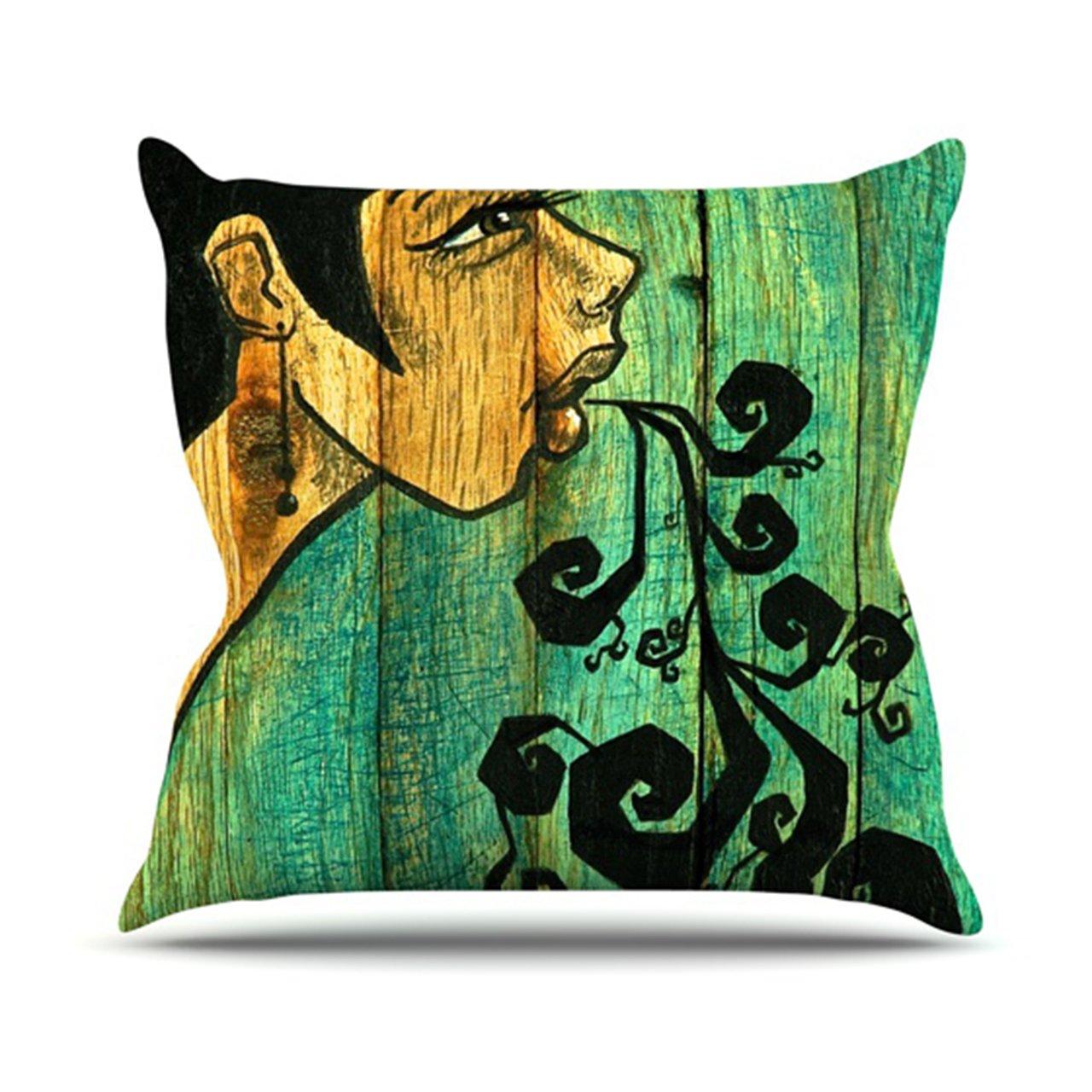 16 by 16-Inch Kess InHouse Jaidyn Erickson Breathe Throw Pillow