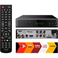TEAC HDB860 Full HD All Channel DVB-T2 H.264 PVR Set TOP Box HDMI Big Remote