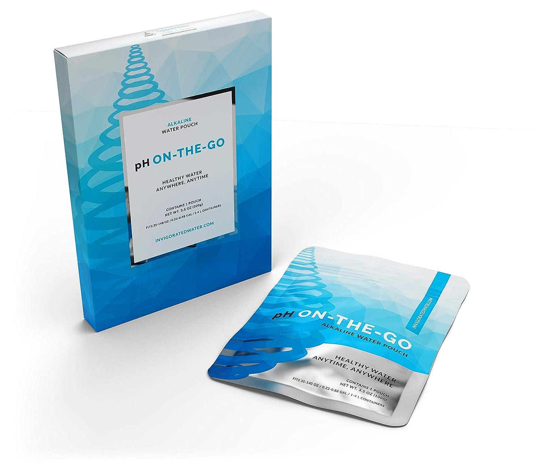 Sachet filtrant alcalinisant pH ON-THE-GO - filtre portable pour bouteille/carafe/récipient - pour ioniser l'eau/élever le pH - 30 grammes (lot de 3)