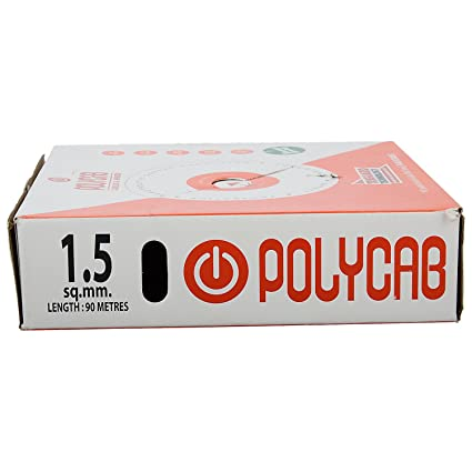 Polycab Flame Retardant Single Core Copper Cable 1.5 Sq Mm Wire (Red)