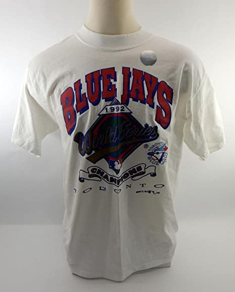 420b9264bb272 Amazon.com  1992 Toronto Blue Jays World  Series Champion New T-shirt -  Game Used MLB Jerseys  Sports Collectibles