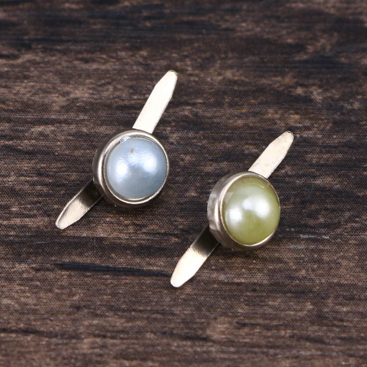 manualidades estampado Amosfun 50 piezas mini puntas redondas perlas pastel para hacer /álbumes de recortes colores surtidos