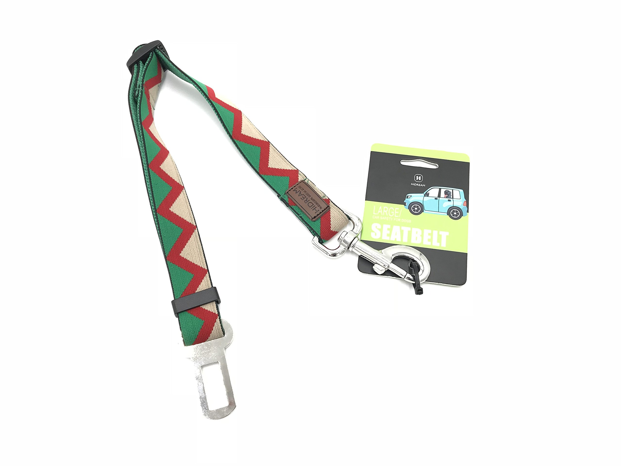 LLSW shop Pet Adjustable Safety Dog Seat Belt and Restraining Strap Car Seat Belt Safety Leads-Regular, Personalized Collars and Seatbelts for Dogs