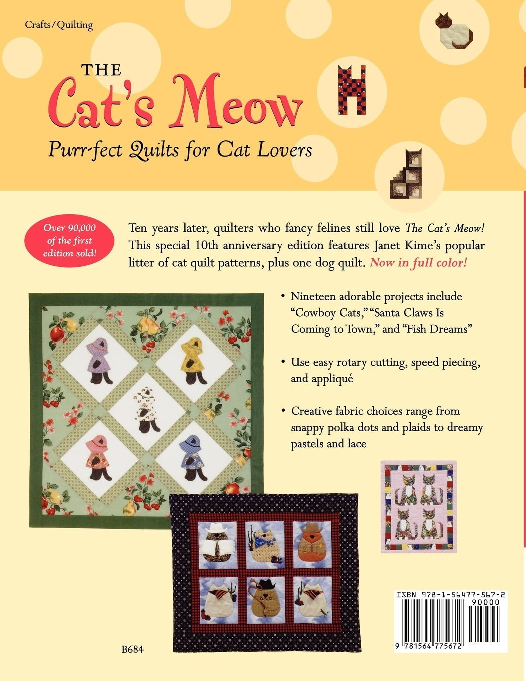 The Cats Meow Purr Fect Quilts For Cat Lovers 10th Anniversary