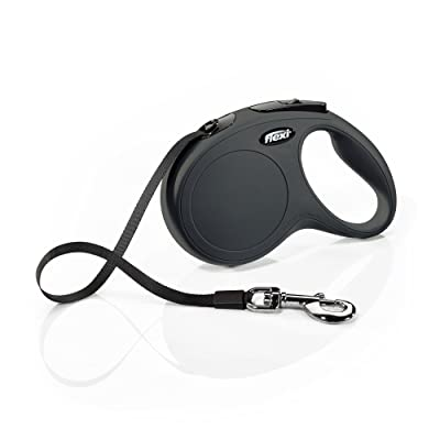 FLEXI Classic Retractable Dog Leash in Black