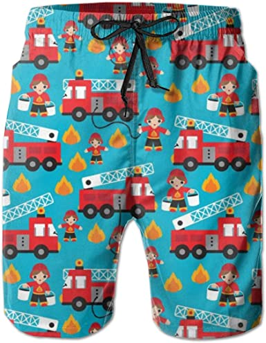 Boys Kids Flamingo Pineapple Banana Leaf Quick Dry Beach Swim Trunk Adjustable Waist Swimsuit Beach Shorts with Pocket