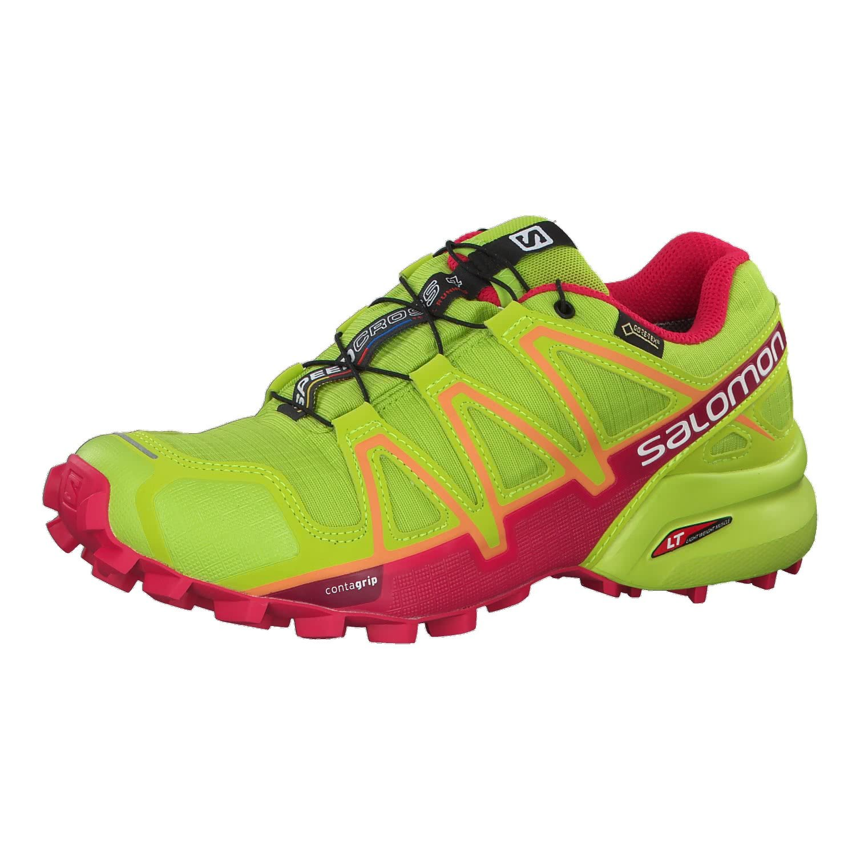 Salomon Women's Speedcross 4 GTX W Athletic Shoe, Lime Green/Virtual Pink, 8 B(M) US