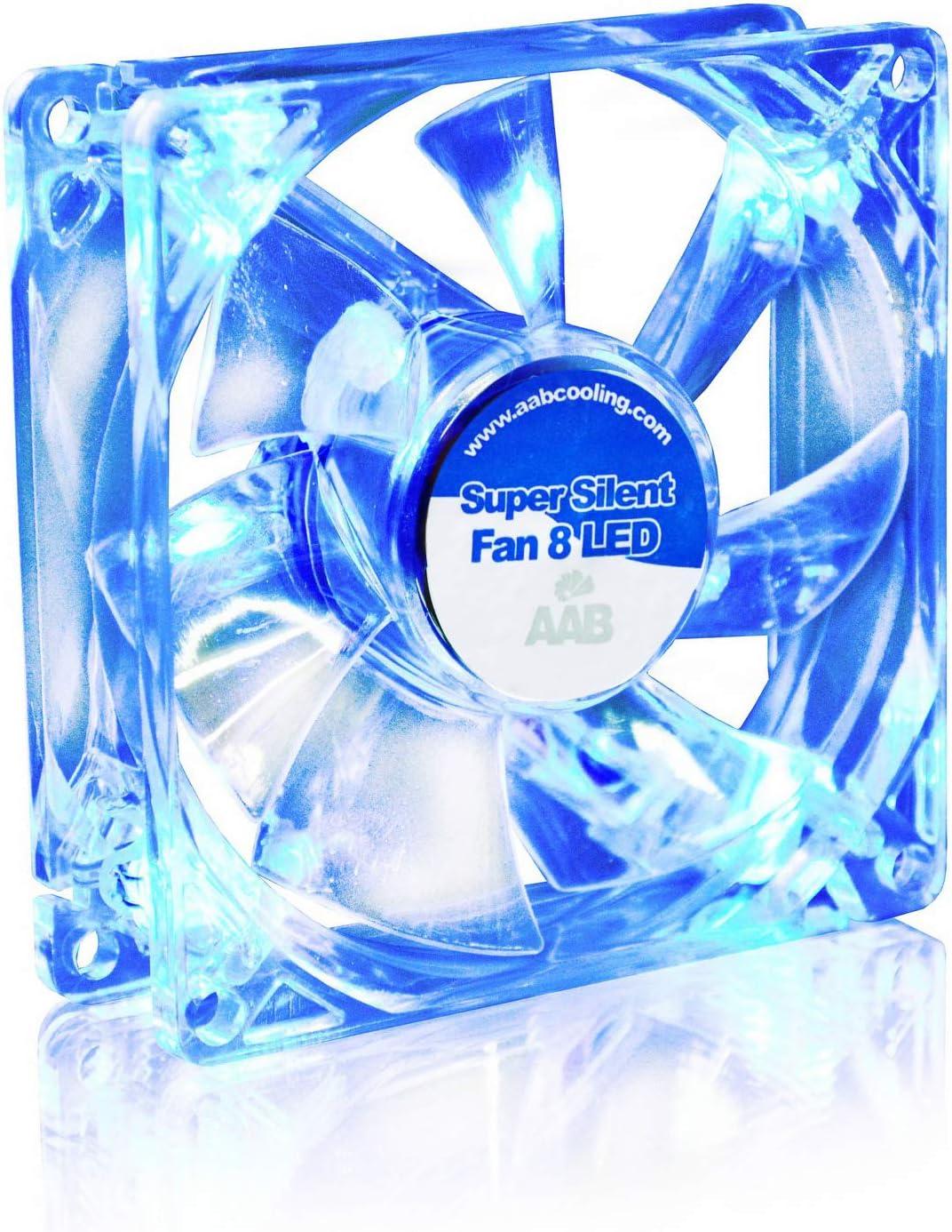 AAB Raffreddamento SUPER SILENT FAN 9 LED blu-e 92mm,