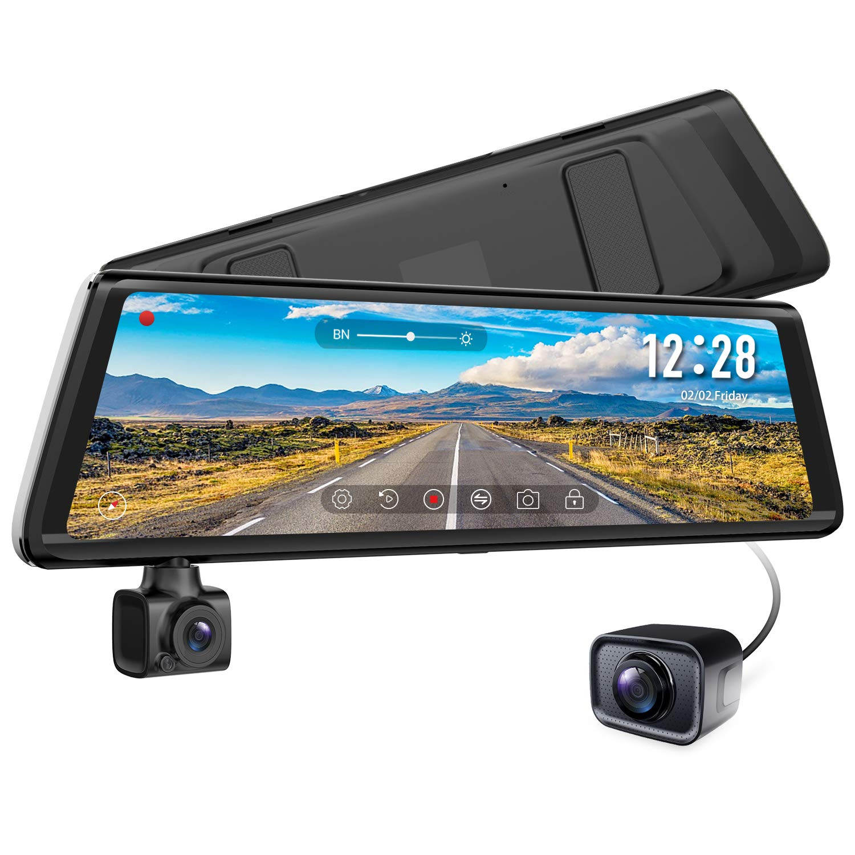 AUTO-VOX A1/Rotatif Flux de la cam/éra Avant Media Miroir Dash Cam