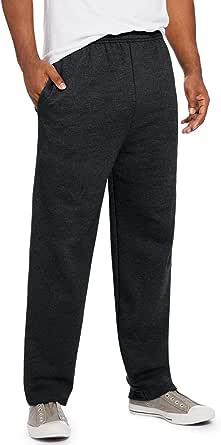 Hanes Mens EcoSmart Open Leg Pant with Pockets