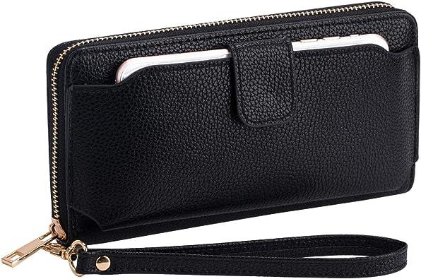 Attractive Ladies Wristlet Purse Long Wallet Women Phone Holder Zip Around LC