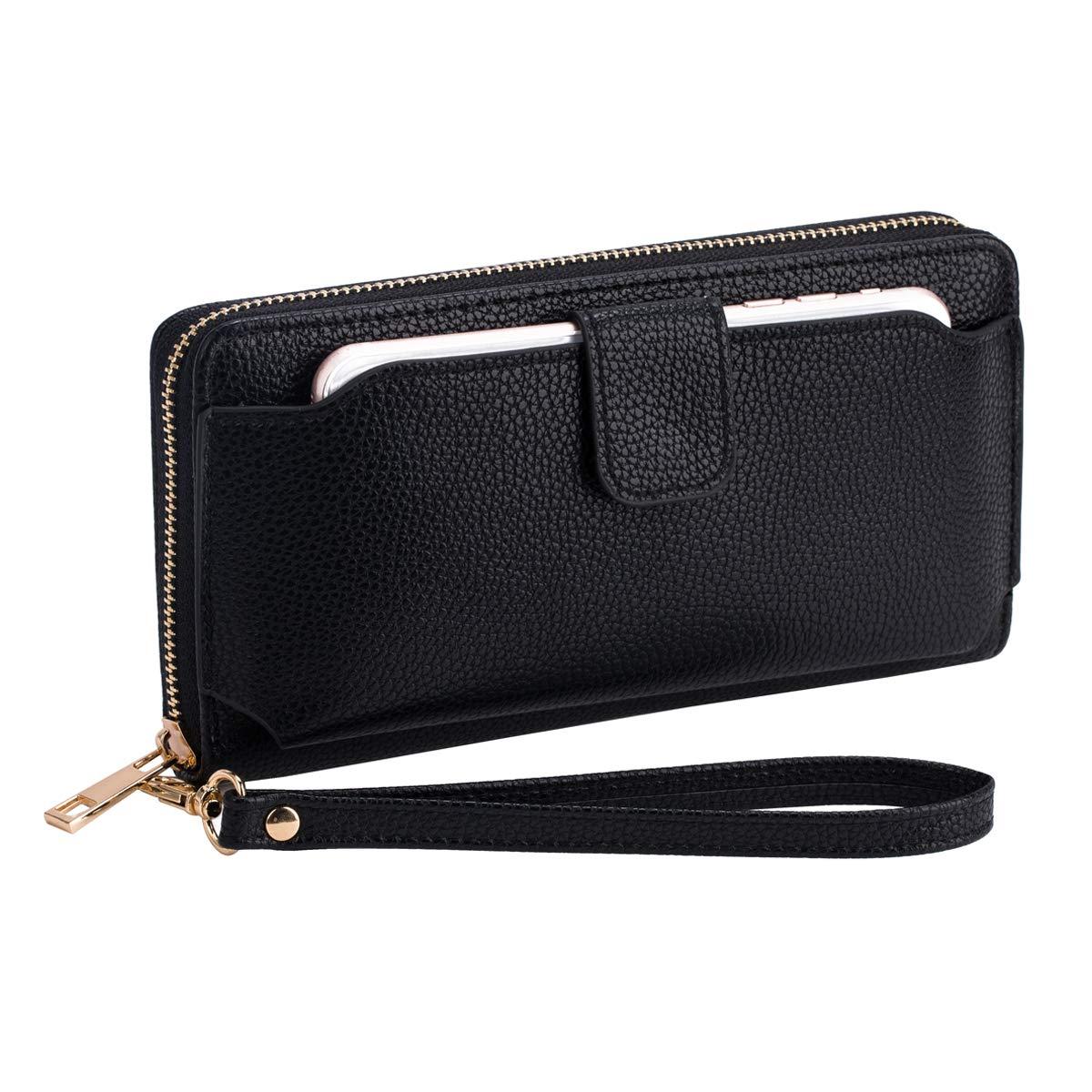 Wristlet Wallet Purses Women Cellphone Pocket Clutch