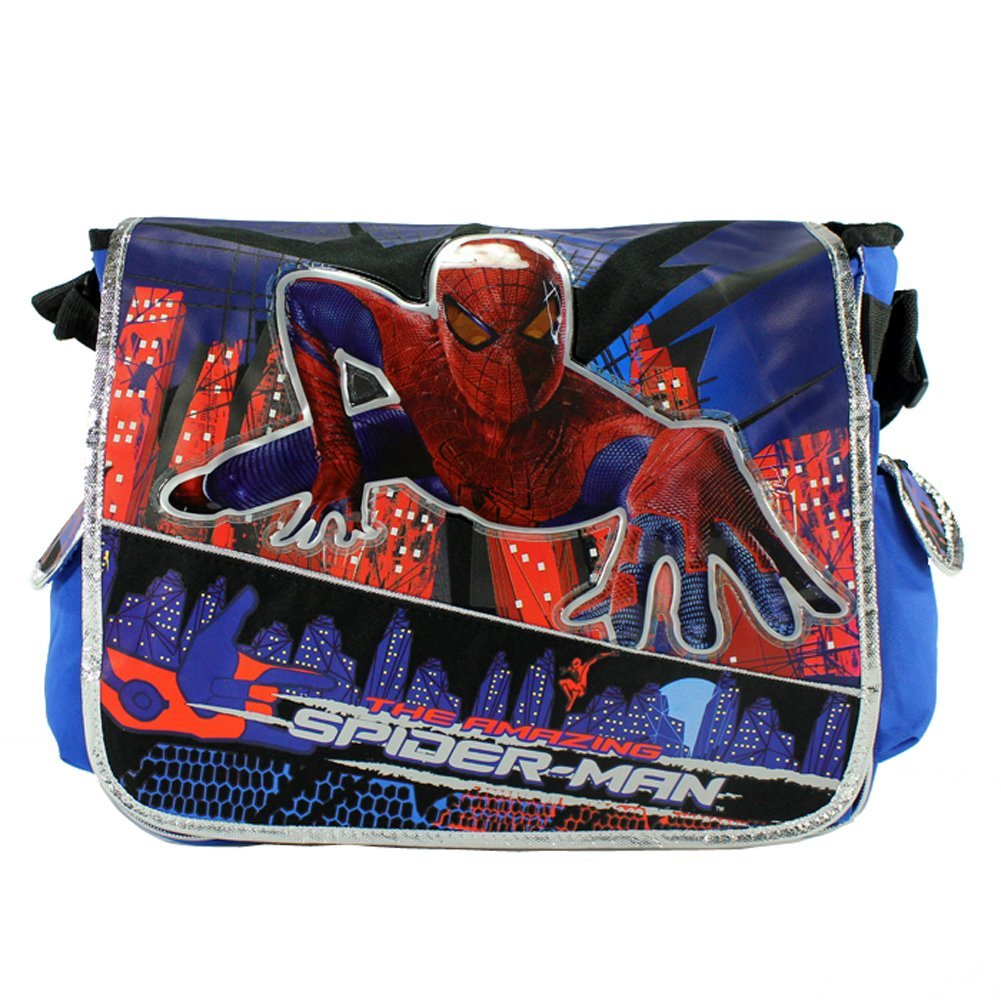 Messenger Bag Marvel Spiderman Blue Ray New School Book Bag 610302   B008VU6LSG
