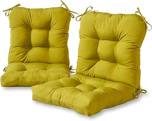 Greendale Home Fashions AZ6815S2-KIWI Lime Outdoor Chair Cushion Set of 2