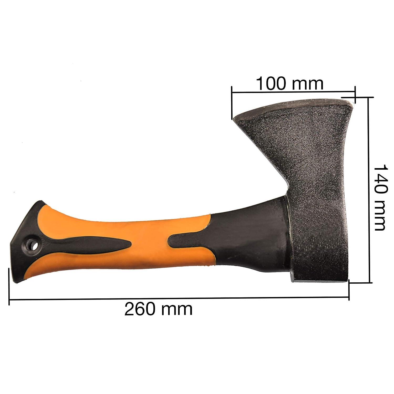 Kopfgewicht Stiel aus Fiberglas f/ür Camping Outdoor Anz/ündholz Mini-Beil Mini-Spitzhacke 500 gr
