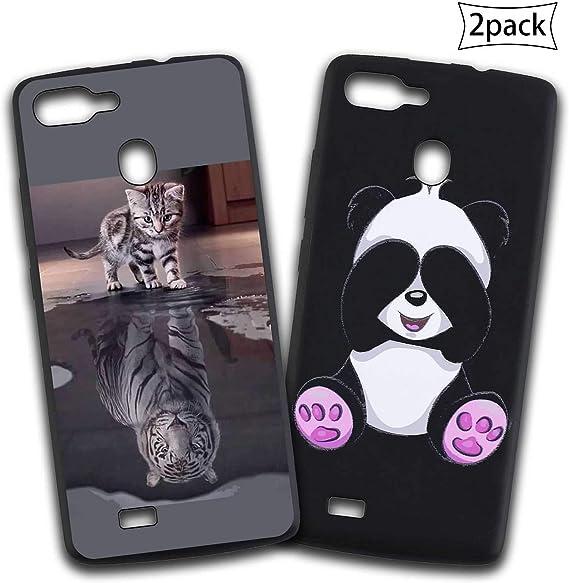 jrester Dos Funda para Blackview A20 Pro,Gato Tigre + Panda ...