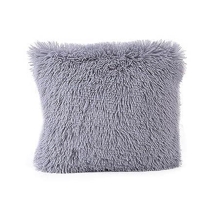 Almohada Funda De Cojín (43 x 43 cm ronamick Peluche Fundas de almohada cuadrada sofá cojín sofá cama Home Decorative suave Fundas de cojín (, ...