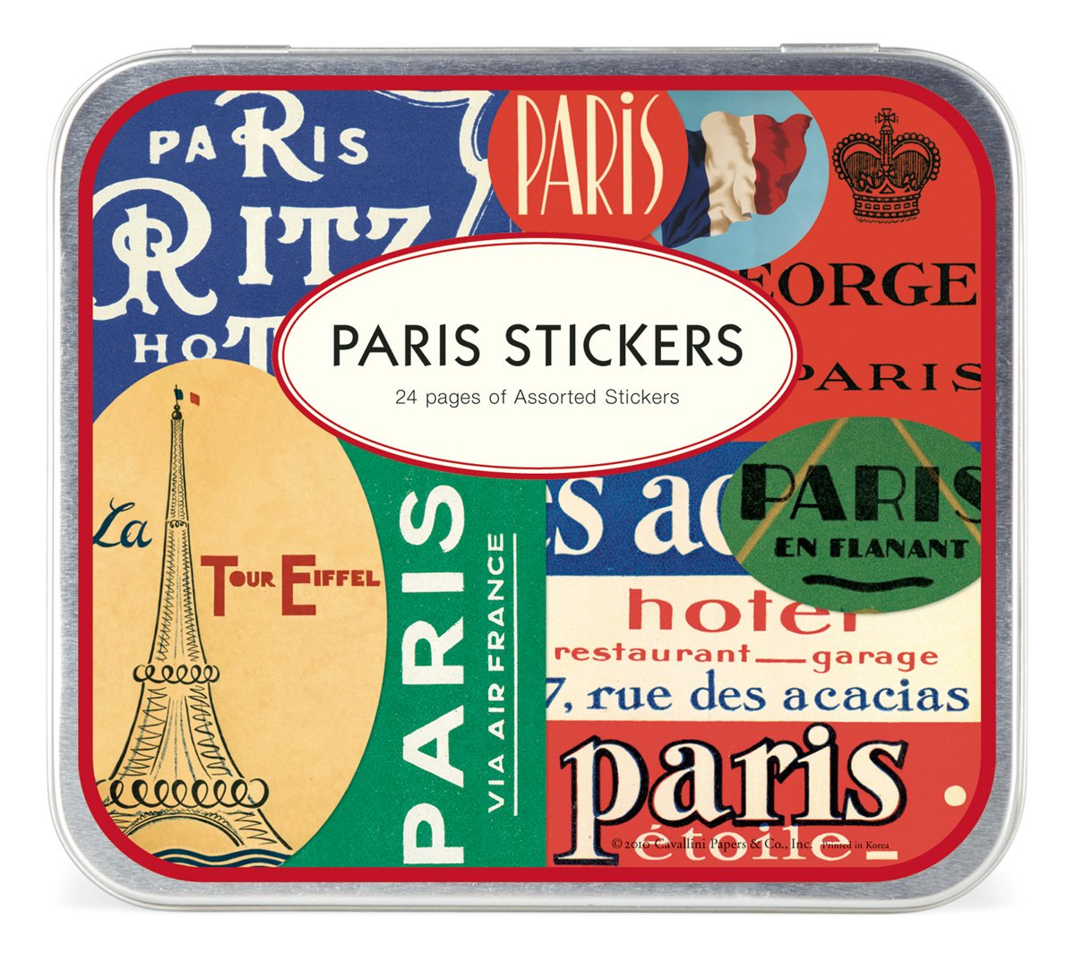 Cavallini Decorative Stickers Paris Assorted