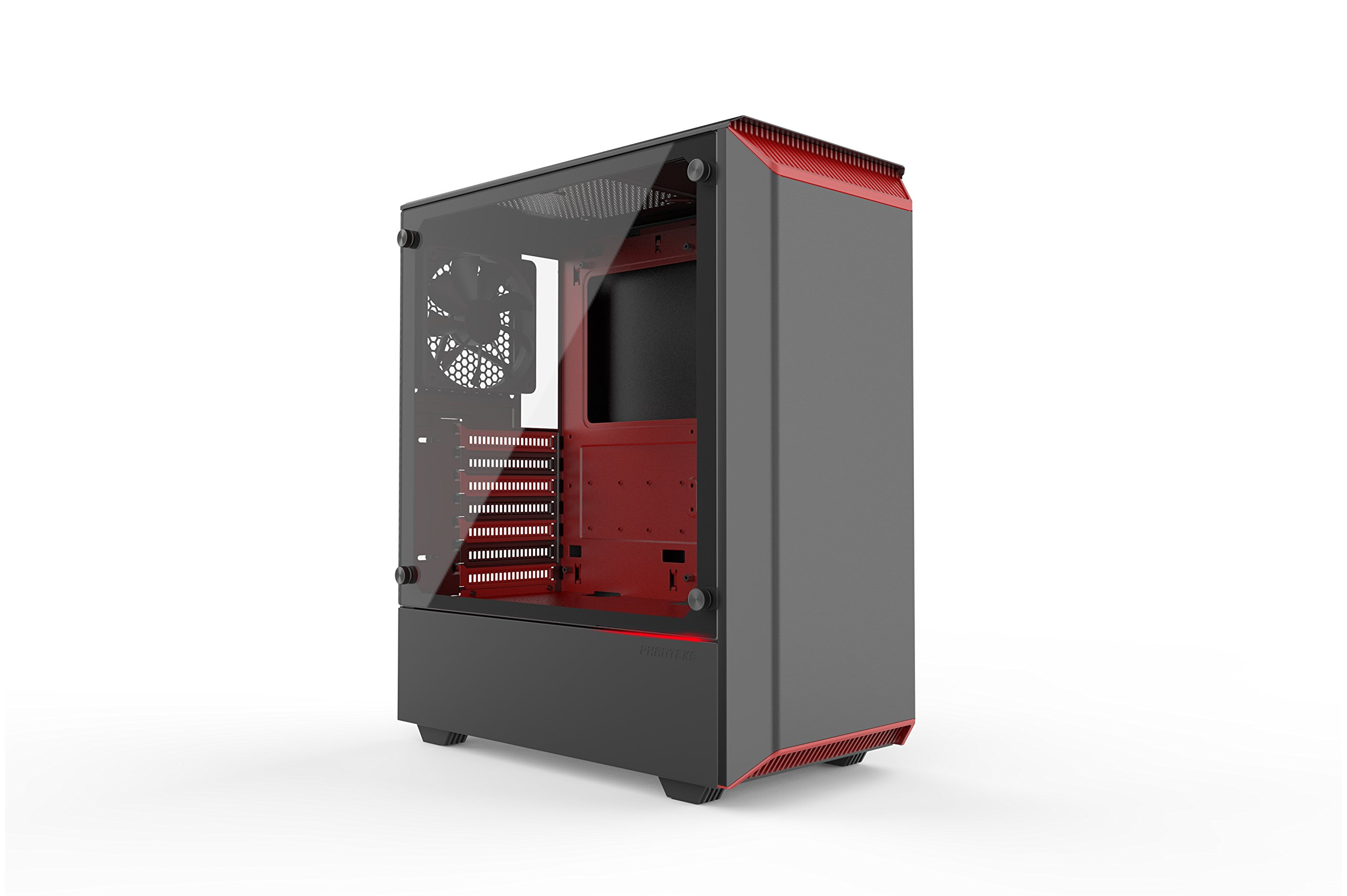 Phanteks PH-EC300PTG_BR Eclipse P300 Tempered Glass Steel ATX Mid Tower Case Black/Red by Phanteks (Image #13)
