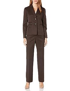Amazon.com: Le Suit traje de pantalón con cuello de muesca ...