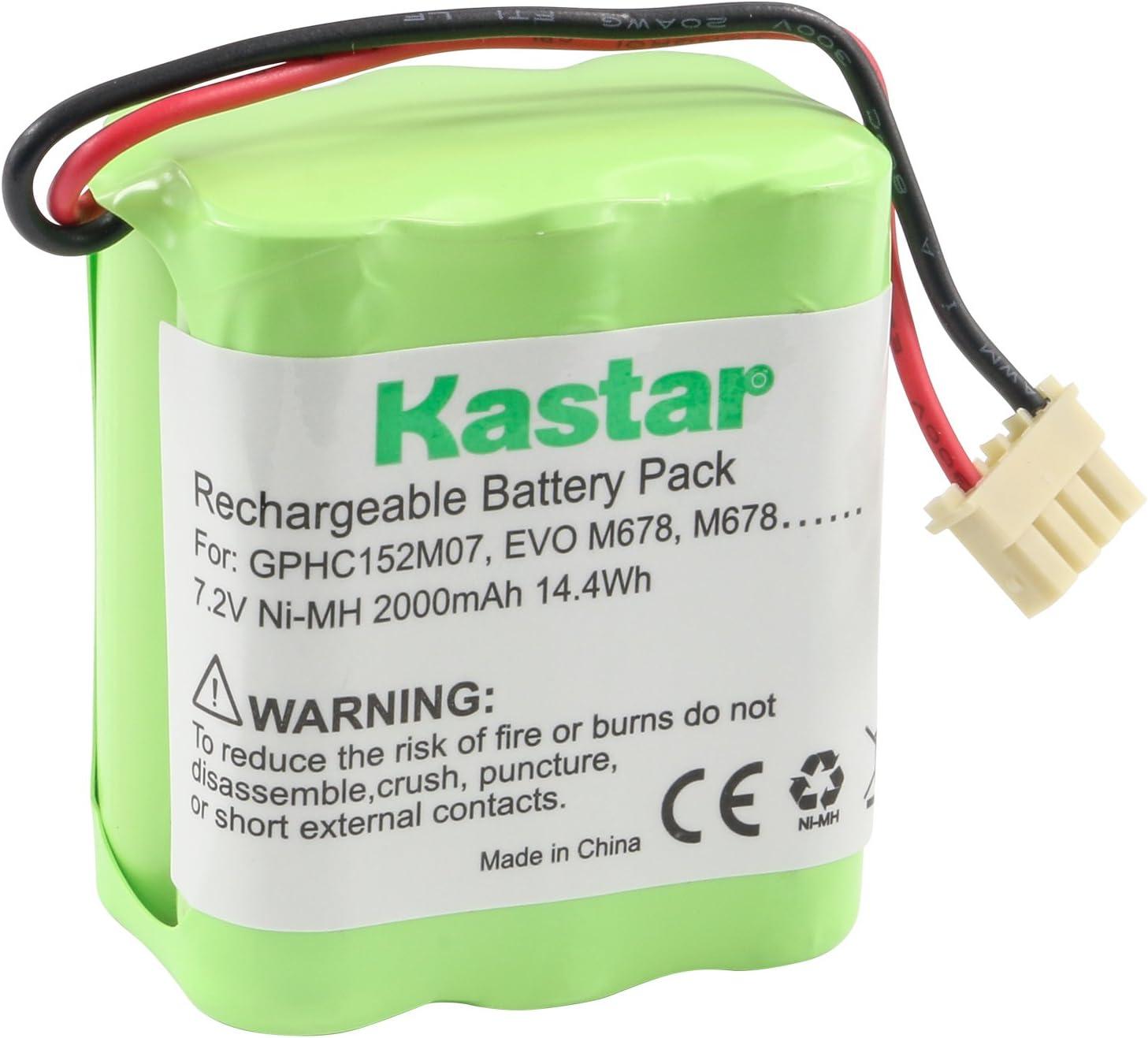 Kastar GPHC152M07 Battery (1 Pack), Ni-MH 7.2V 2000mAh, Replacement for Dirt-Devil GPHC152M07, Mint 4200, M678, EVO M678