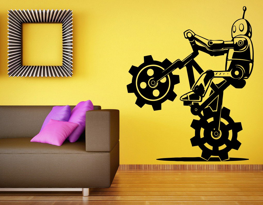 Wall Sticker Vinyl Decal Bicycle Sport Mountain Bike Race Great Room ...