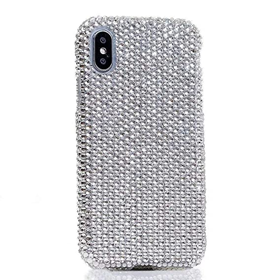 new arrivals 41e44 261cf iPhone Xr Crystal Rhinestone Case,iPhone Xr Diamond Case,Girls Luxury Bling  Glitter Crystal Rhinestone Shining Gem Swarovski Rhinestone Protective ...