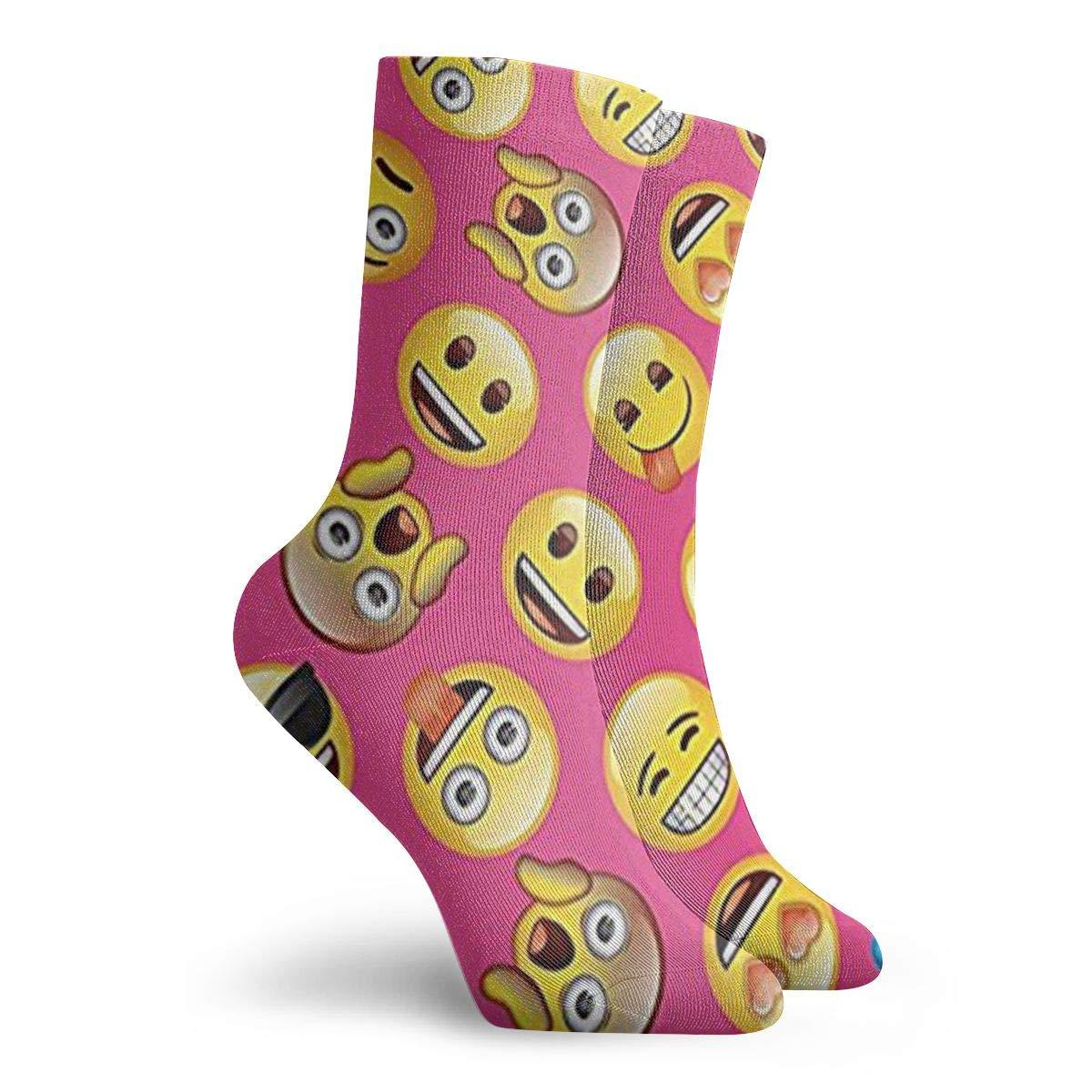 Emoji Unisex Funny Casual Crew Socks Athletic Socks For Boys Girls Kids Teenagers