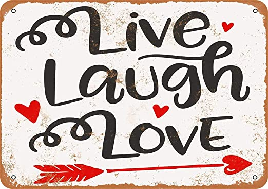 Snowae Live Laugh Love Metal Poster Wall Rust Free Aluminium ...