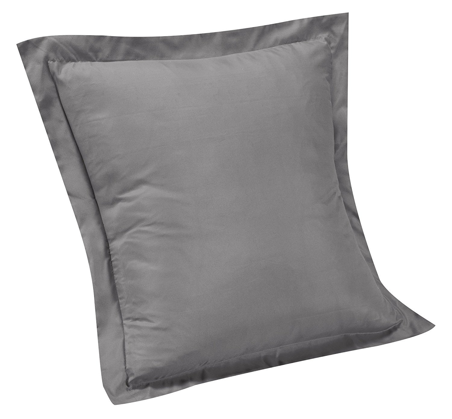 Thread Spread 100% Egyptian Cotton Pillow Shams with Envelope Closure 1000 Thread Count Sateen Weave 2 PCs by (Queen 20'' x 30'', Stone Grey) sham-20x30-grey